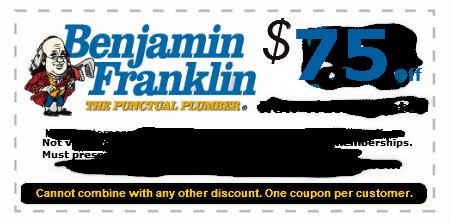Plumber Coupons In San Jose Ca Benjamin Franklin